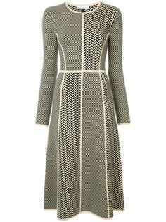 трикотажное платье с геометрическим узором Gabriela Hearst