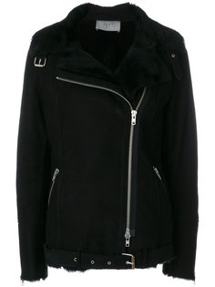 shearling jacket with silver hardware Just Female