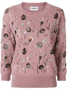 свитер с пайетками Essentiel Antwerp