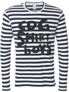 полосатая футболка с длинными рукавами Comme Des Garçons Shirt Boys