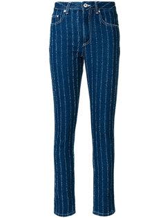 полосатые узкие джинсы MSGM