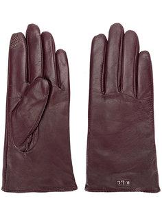 перчатки с бляшкой с логотипом Lauren Ralph Lauren