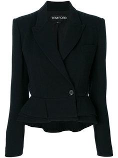 укороченный пиджак с оборочным подолом Tom Ford