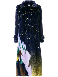 длинное пальто из искусственного меха Marco De Vincenzo