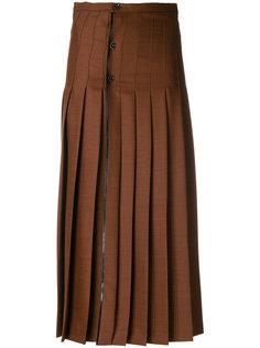плиссированная юбка с высокой талией Marco De Vincenzo