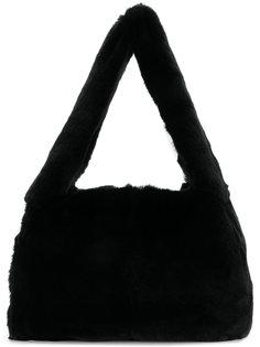 сумка-тоут из меха лисы Miu Miu