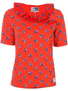 футболка с оборкой May Flowers Kenzo