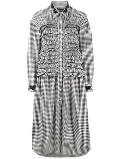 платье-рубашка в клетку с оборками  Simone Rocha