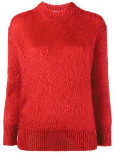 трикотажный свитер с круглым вырезом  Prada