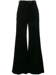 бархатные широкие брюки с завышенной талией  Racil