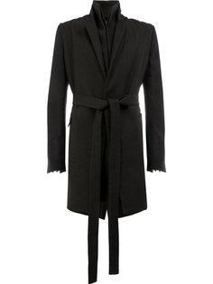 пальто с поясом Cedric Jacquemyn