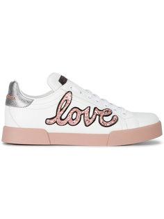 кроссовки с аппликацией сердца Dolce & Gabbana