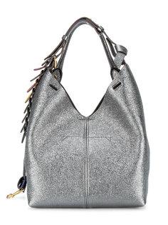 сумка через плечо с кругами на лямке и металлическим отблеском Anya Hindmarch