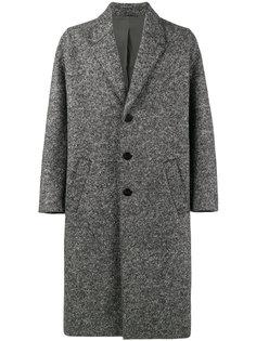 серое пальто свободного кроя Neil Barrett