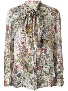 блузка с воротником с завязкой на бант и принтом Tory Burch