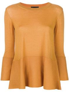 свитер с расклешенными укороченными рукавами Roberto Collina