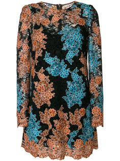 платье шифт с цветочным кружевом  Dolce & Gabbana