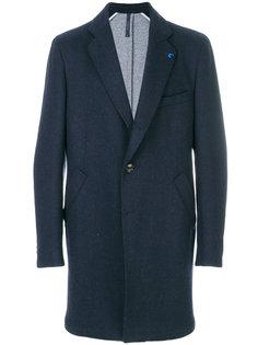 удлиненное однобортное пальто  Tombolini