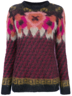 текстурный свитер с рисунком Roberto Collina