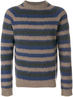 пуловер с круглым вырезом в полоску Boglioli