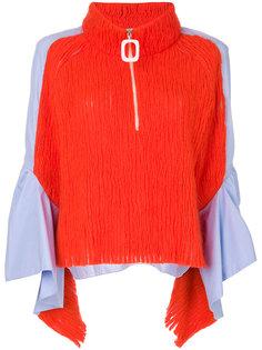 блузка с драпировкой на рукавах  Aviù
