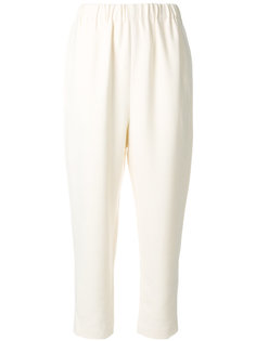 elastic waistband cropped trousers Enföld