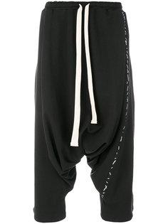 спортивные брюки с заниженной проймой Alchemy