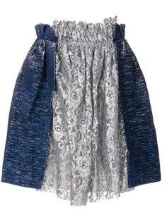присборенная кружевная мини-юбка Jourden