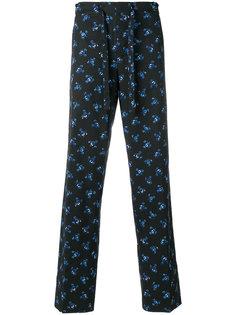 пижамные брюки с цветочным принтом Kenzo