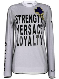 топ с длинными рукавами и принтом  Versace