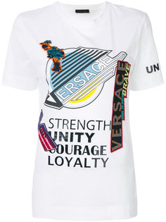 футболка с принтом Versace Manifesto Versace