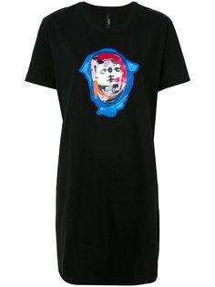 длинная футболка с принтом  Versus