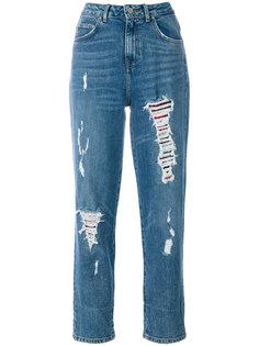 укороченные джинсы с прорехами  Tommy Hilfiger