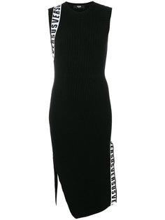 трикотажное платье без рукавов  Versus