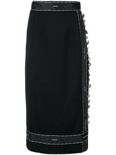 юбка с лентой из пуговиц Dolce & Gabbana