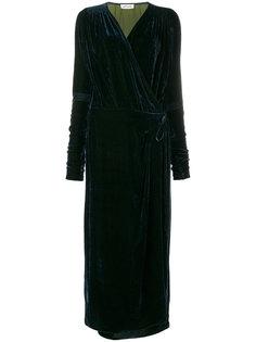 длинное платье с запахом Attico