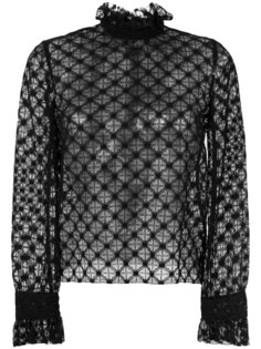 полупрозрачная кружевная блузка  Philosophy Di Lorenzo Serafini