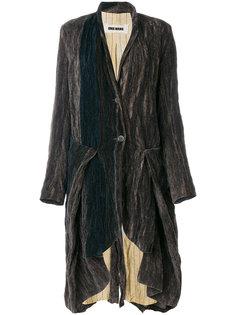пальто с драпировкой Uma Wang