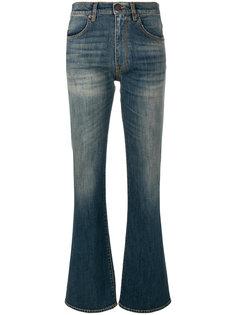джинсы с потертой отделкой 6397
