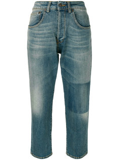 укороченные джинсы с потертой отделкой 6397