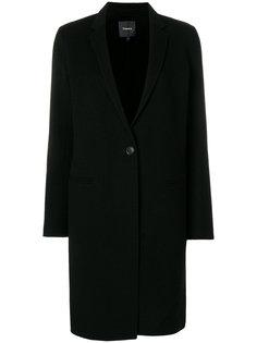 пальто с V-образным вырезом Theory