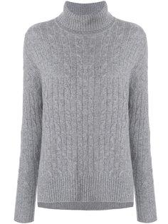 свободный свитер с узором косы N.Peal