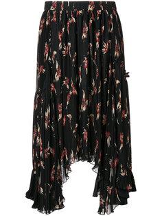 плиссированная юбка-миди с цветочным принтом Isabel Marant