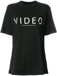 объемная футболка с принтом Pam Perks And Mini