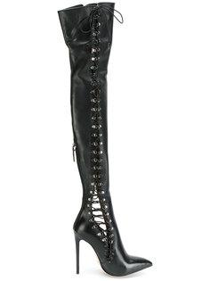 высокие сапоги со шнуровкой Gianni Renzi