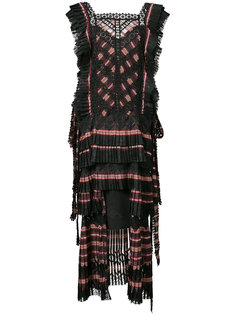 striped tiered dress Zimmermann