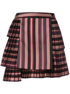 полосатая плиссированная юбка Zimmermann