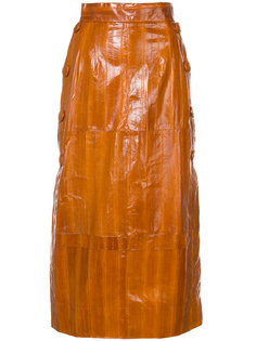 фактурная юбка миди Roksanda