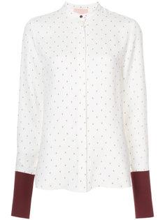 блузка с контрастными манжетами  Roksanda