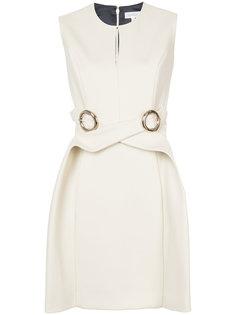 платье с круглыми пряжками Delpozo
